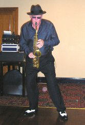 Johnny playing sax