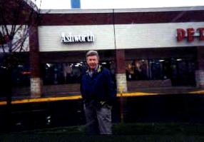 Ernie outside one of his radio stations